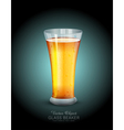 glass with drink on the dark blue background vector image