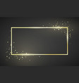 golden frame template with glitter effect for vector image vector image
