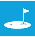 Golf field icon simple vector image