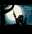 halloween night castle vector image