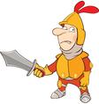 Knight Cartoon Character vector image