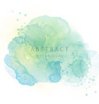 light green abstract watercolor background vector image vector image