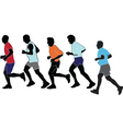 marathon collection vector image vector image
