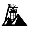 mine icon simple style vector image vector image