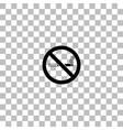 no smoking icon flat vector image vector image
