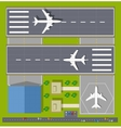Overhead point of view airport vector image vector image