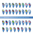 pin flags sovereign countries north and vector image