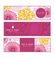 pink field flowers horizontal banners set pattern vector image