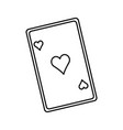 playing ace card poker icon casino betting vector image