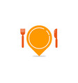 point food logo icon design vector image vector image