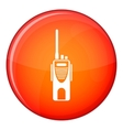 Radio transmitter icon flat style vector image vector image