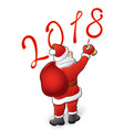 santa draws 2018 vector image vector image