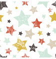 seamless childish grunge pattern with stars vector image vector image
