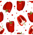 seamless pattern with red bell pepper vector image vector image