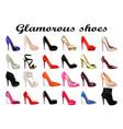set female glamorous high heel shoes vector image