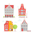 set of of city buildings isolated on white b vector image