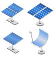 set of solar panels in isometric projection vector image vector image