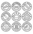 set of vintage labels of food vector image vector image