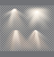 set with warm light on a transparent vector image vector image