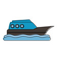 ship on water sideview icon image vector image vector image