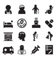 sick injury icons set vector image vector image