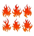 Six fire icon vector image vector image