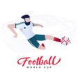 soccer player on the stadium background vector image vector image