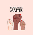 stop racism multiethnic equality concept diverse vector image vector image