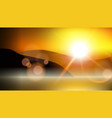 sunlight special effect lens flare blurred vector image