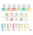 timeline workflow or process diagram option vector image