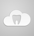 Tooth in could vector image vector image
