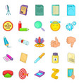 transducer icons set cartoon style vector image vector image
