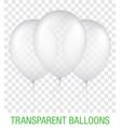 transparent blue ballons vector image vector image
