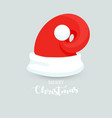 unusual modern santa claus hat with christmas vector image