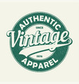 vintage auth t-shirt vector image vector image