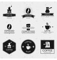 Vintage coffee labels and logos set vector image