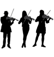 Violinist Silhouette vector image vector image