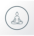yoga icon line symbol premium quality isolated vector image vector image