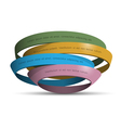 3d colored rings vector image