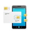 Phone Sim Card Template vector image