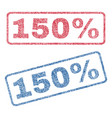 150 percent textile stamps vector image vector image