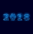 2018 new year text letters vector image