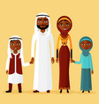 arab family arabic parents two children vector image vector image