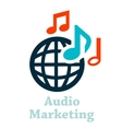 audio marketing icon vector image vector image