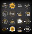 Back to school badges design elements vector image