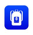 backpack icon digital blue vector image