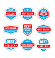 best seller badges set in retro vintage vector image vector image