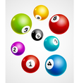 Bingo lottery balls numbers background Lottery vector image vector image