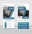 blue business roll up banner flat design template vector image