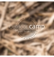 blurred forest background vector image vector image